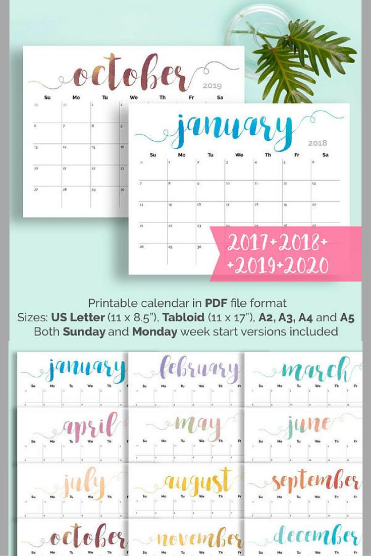 printable calendar 2018 2019 large wall calendar 2018 desk calendar large monthly pages printable pdf