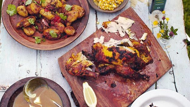 Jamie Oliver Empire Roast Chicken & Bombay Potatoes