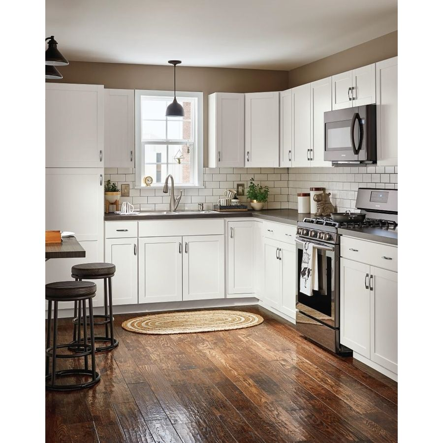 Diamond Now Arcadia 24 In W X 35 In H X 23 75 In D Truecolor White Drawer Base Stock Cabinet Lowes Com Lowes Kitchen Cabinets Kitchen Design Kitchen Remodel