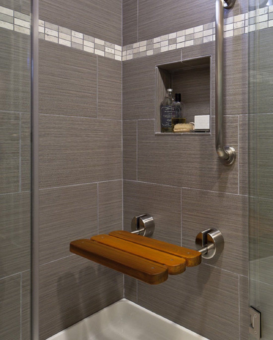 Nice 45 Awesome Bathroom Tile Shower Design Ideas https