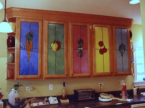 stained glass kitchen cabinet doors americana folk style kitchen cabinet doors stained 26574