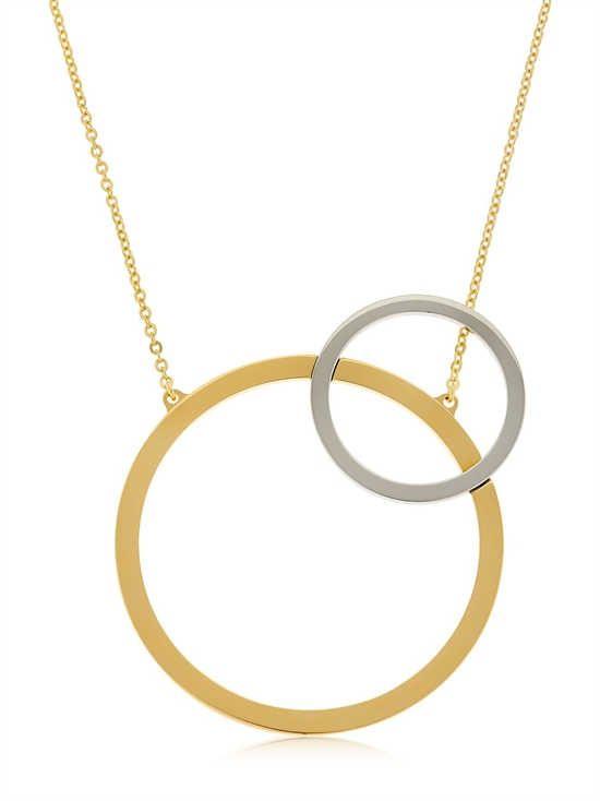 Vita Fede Sole Two-Tone Circle Necklace luvALPFq