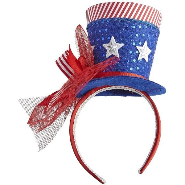 Pier 1 Imports Americana Headband Hat ($6.38) ❤ liked on Polyvore featuring accessories, hats, themes / usa and pier 1 imports