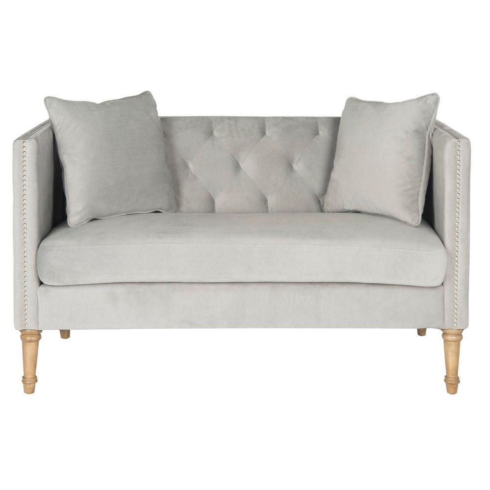 Astounding A Loveseat To Love At First Sight The Safavieh Settee Is A Customarchery Wood Chair Design Ideas Customarcherynet