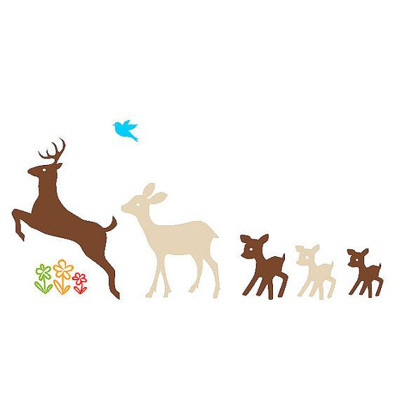 Deer Family Car Decal Sticker Custom By BathBots On Etsy - Family car sticker decalsfamily car decal etsy