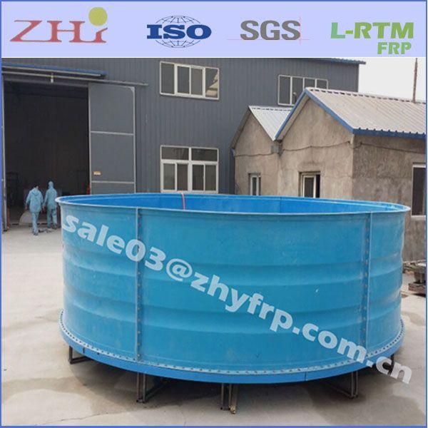 3-10M Big Round Fiberglass Aquaculture Tank for Fish Farm