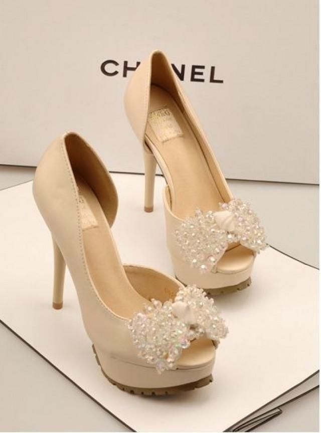 Chanel Wedding Shoes Zapatos De Novia Zapatos De Boda Tacones