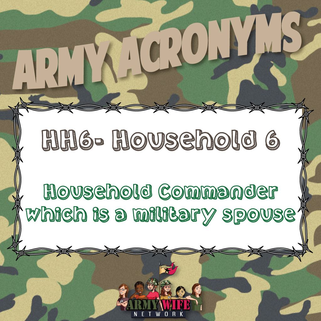 Army Acronyms Hh6 Household 6 Household Commander