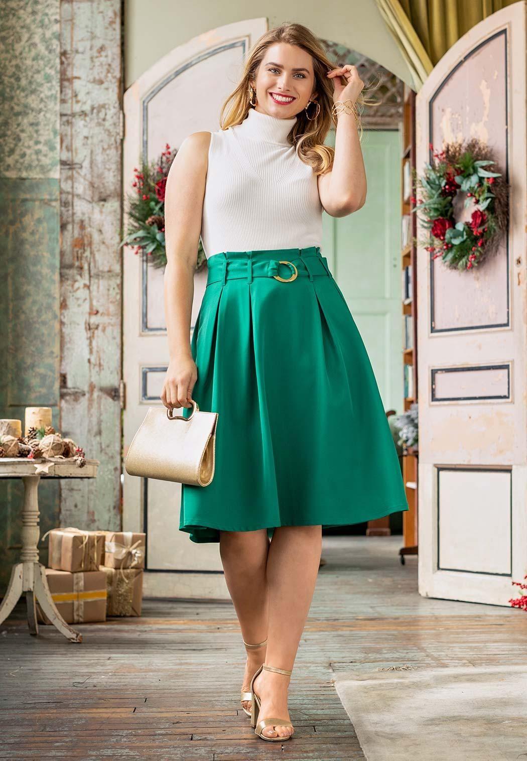 Paper Bag Midi Skirt Skirts Cato Fashions CountOnCato