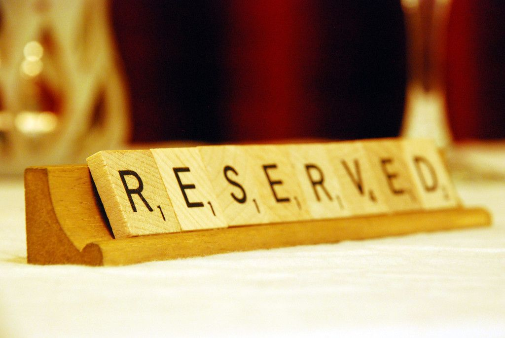 Reserved Table Signs - Beautiful Rustic Wooden Scrabble Letters for Restaurants and Cafes