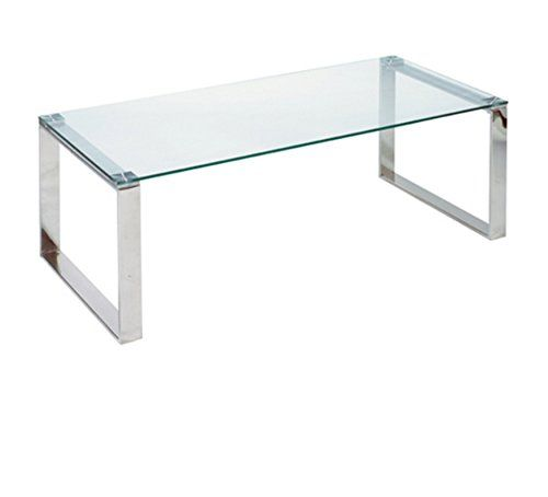 Cortesi Home Remi Contemporary Glass Coffee Table With Chrome Finish Read More At The Image Coffee Table Contemporary Glass Coffee Tables Glass Coffee Table