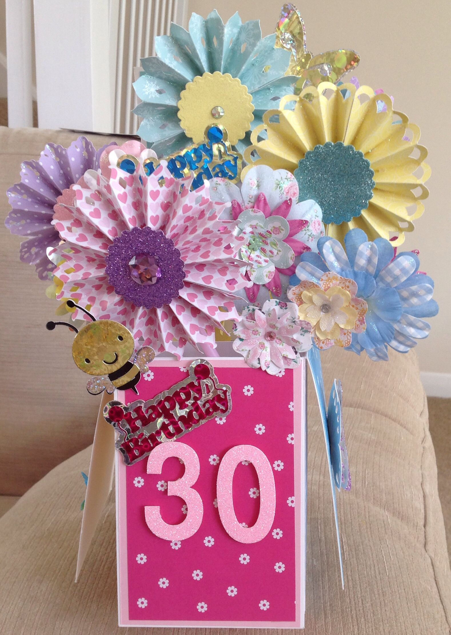 debs 30th  cards handmade pop up box cards card making