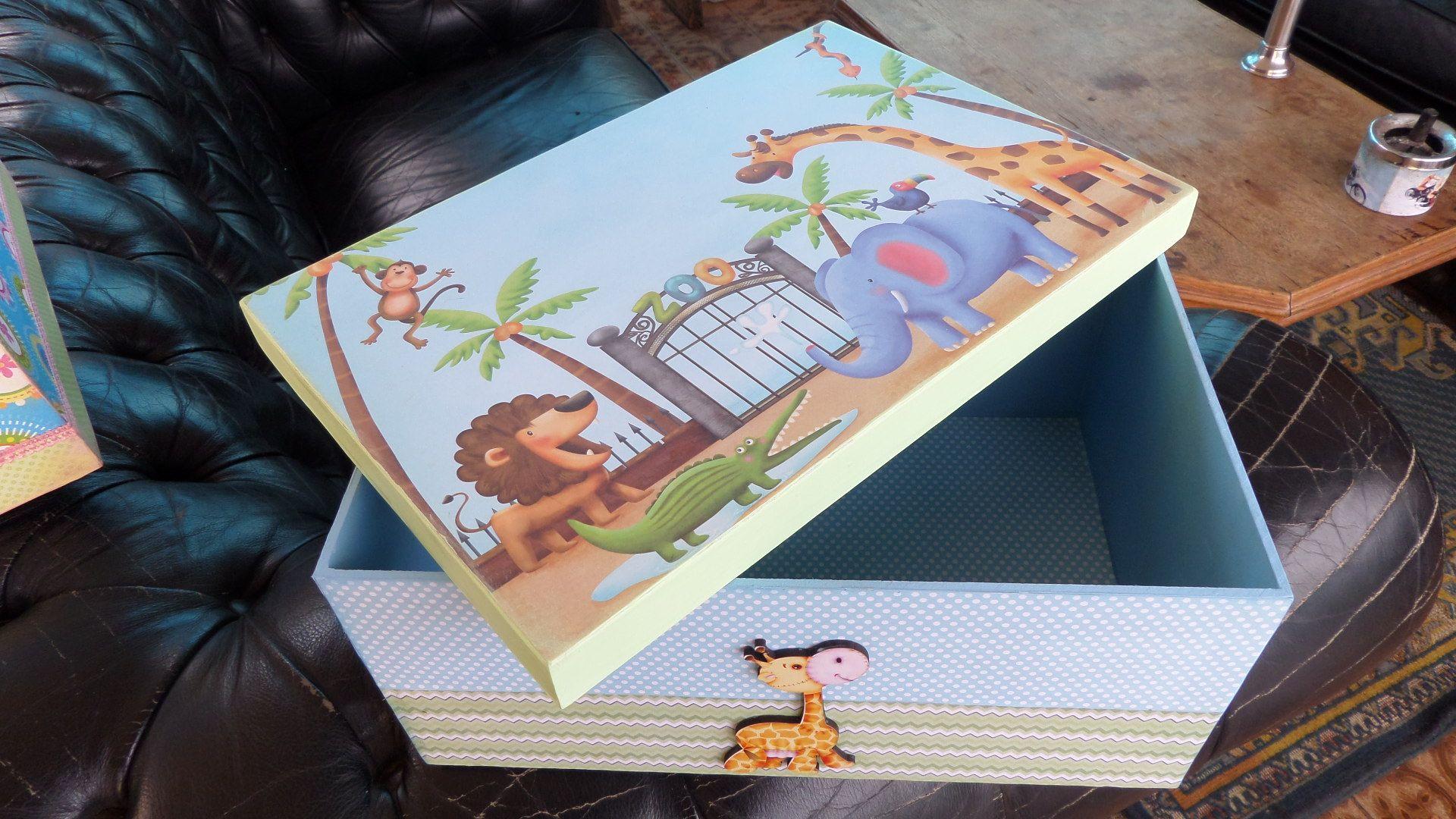 caixa decorada decoupage infantil