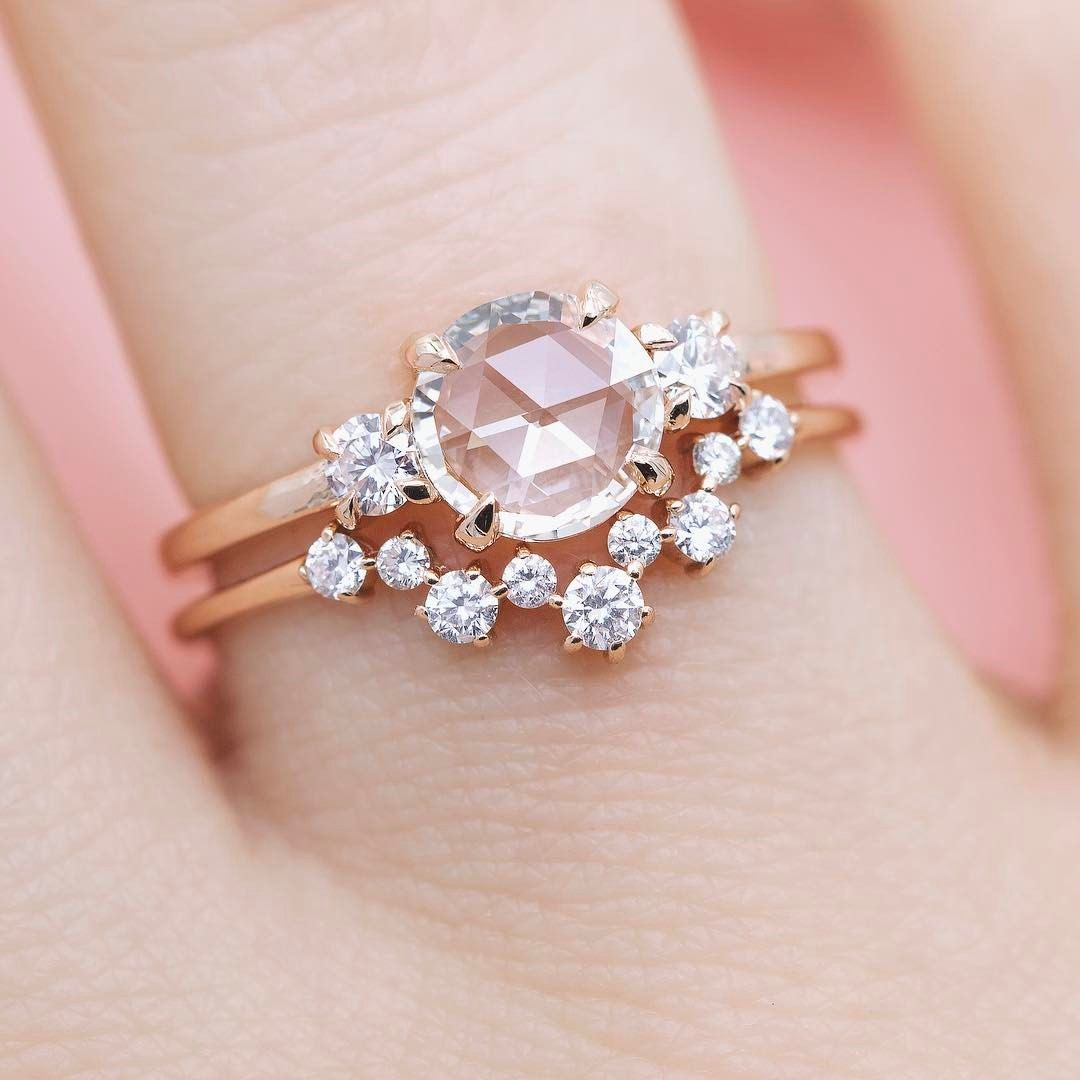 Image result for rose gold pear diamond | Engagement Ring ...