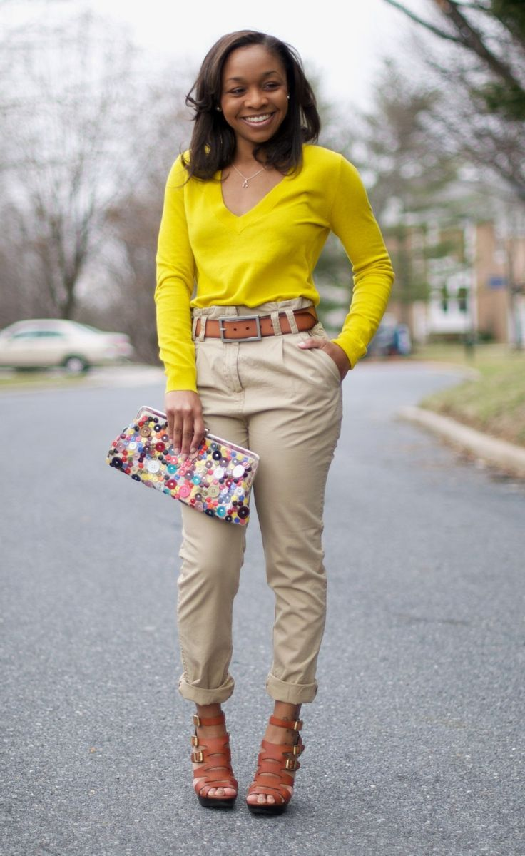 Chic Ways to Wear Khaki Pants | Art miami, Daily schedules and Team gb