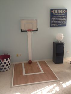 Diy Toddler Basketball Goal Outdoor  Google Search  Play Room Beauteous Basketball Hoop For Bedroom Inspiration Design