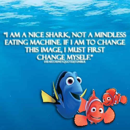 I am a nice shark not a mindless eating machine if i am for Fish are friends not food