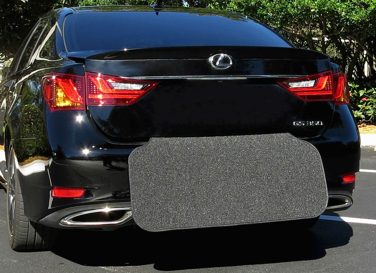 Prevent Scratches While Unloading and Loading and Trunk Cargo Liner Floor Mat Black Easily Folds Away | Bumper Guard Rear Bumper Protector