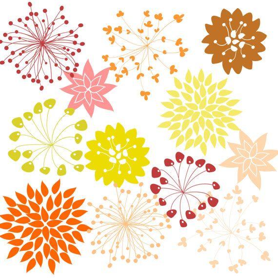 flower clipart 12 flower graphics hydrangea starburst clip art