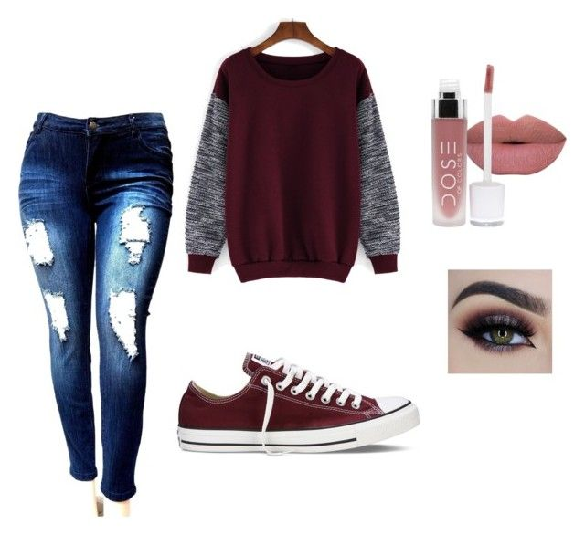 Red shoes · Untitled on Polyvore featuring polyvore, Converse, fashion ...