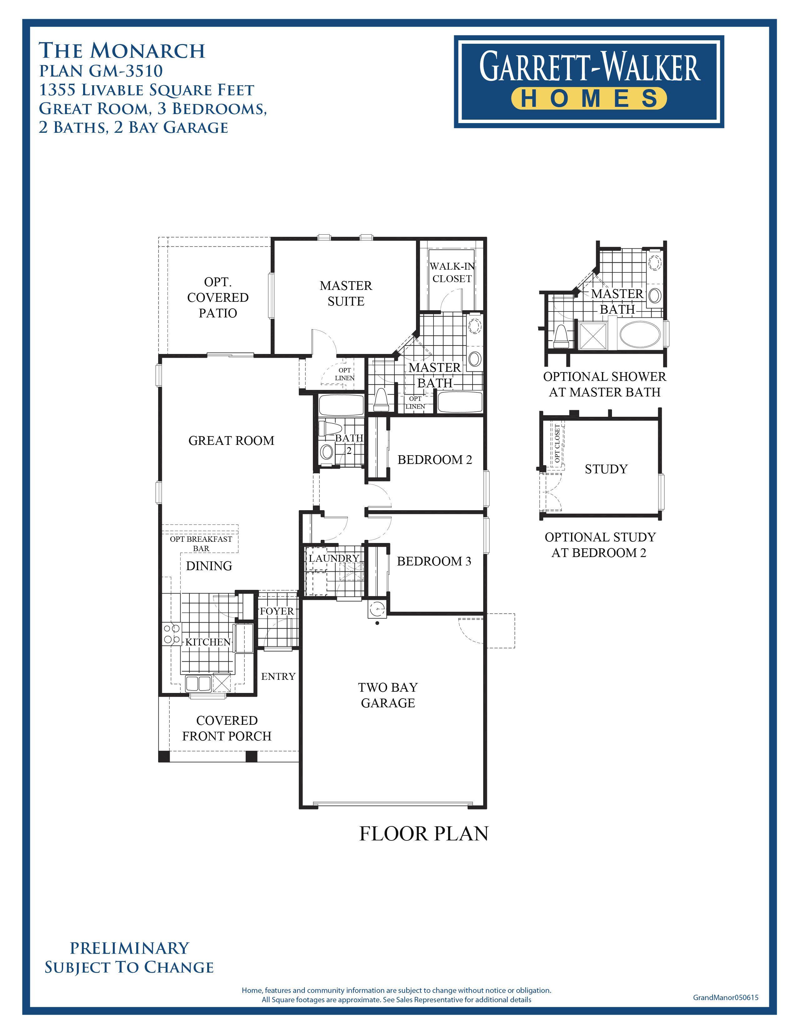 garrett walker homes harmony 21 community this floor plan shows