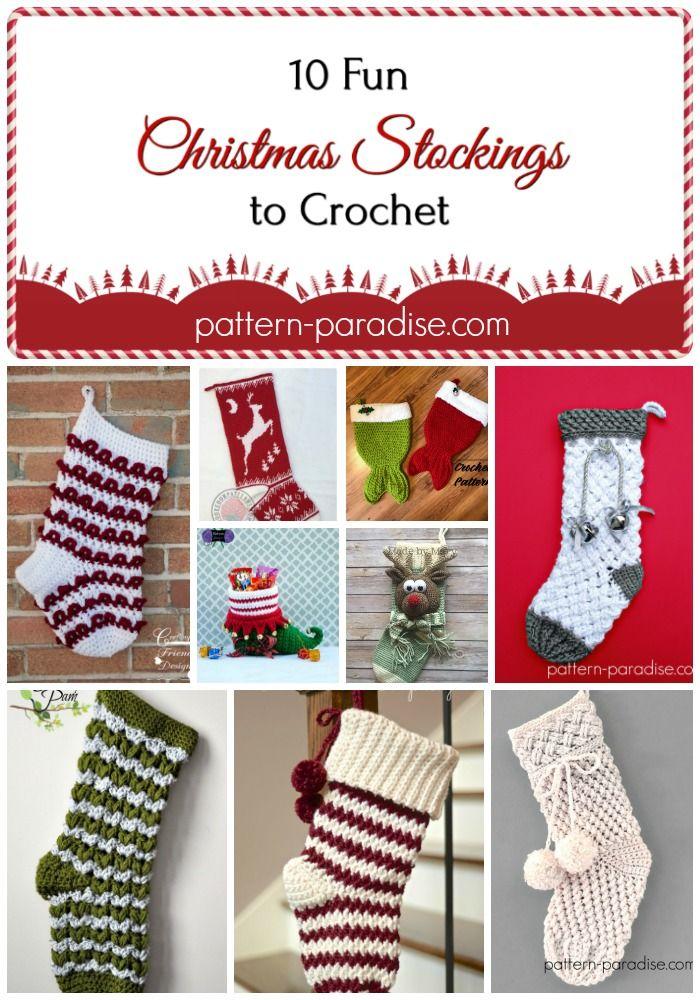 Crochet Finds - Christmas Stockings | Pinterest