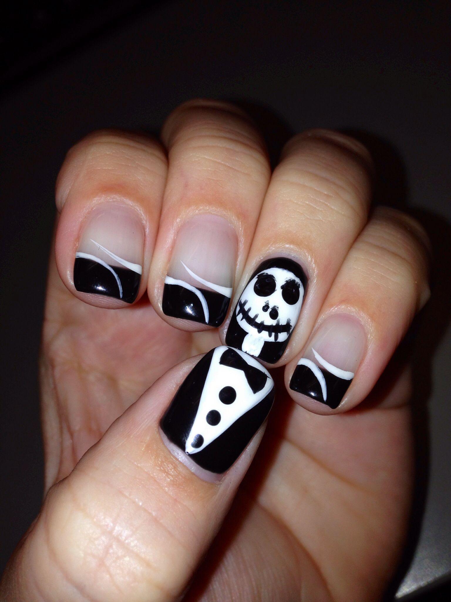 Jack the pumpkin king gel nails. Halloween nails. cute gel nails. my ...