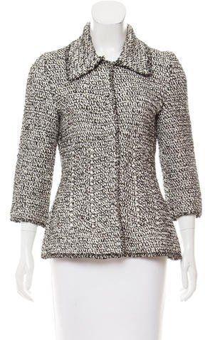 Oscar de la Renta Silk Knit Jacket