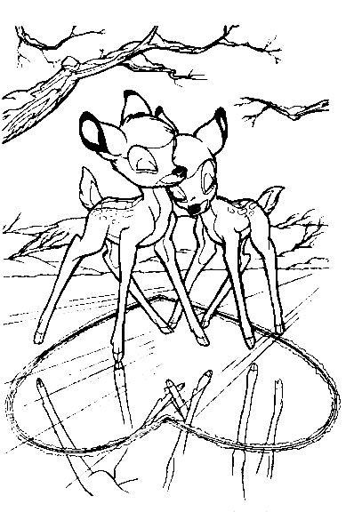 Kleurplaat Bambi Kleurplaten Pinterest Coloring Pages Color