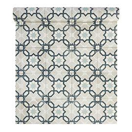 Papier Peint Vinyle Sur Intisse Carreaux De Ciment Vert Papier Peint Papier Peint Vinyle Parement Mural