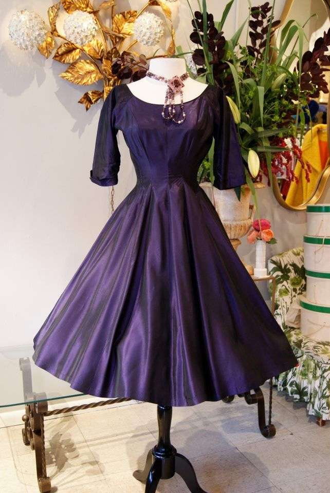 Vintage Pretty in Purple Taffeta