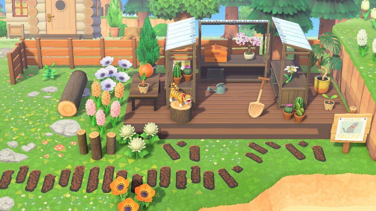 Xo On Twitter Animal Crossing Animal Crossing Qr Diy Greenhouse Backyard lawn diy acnh