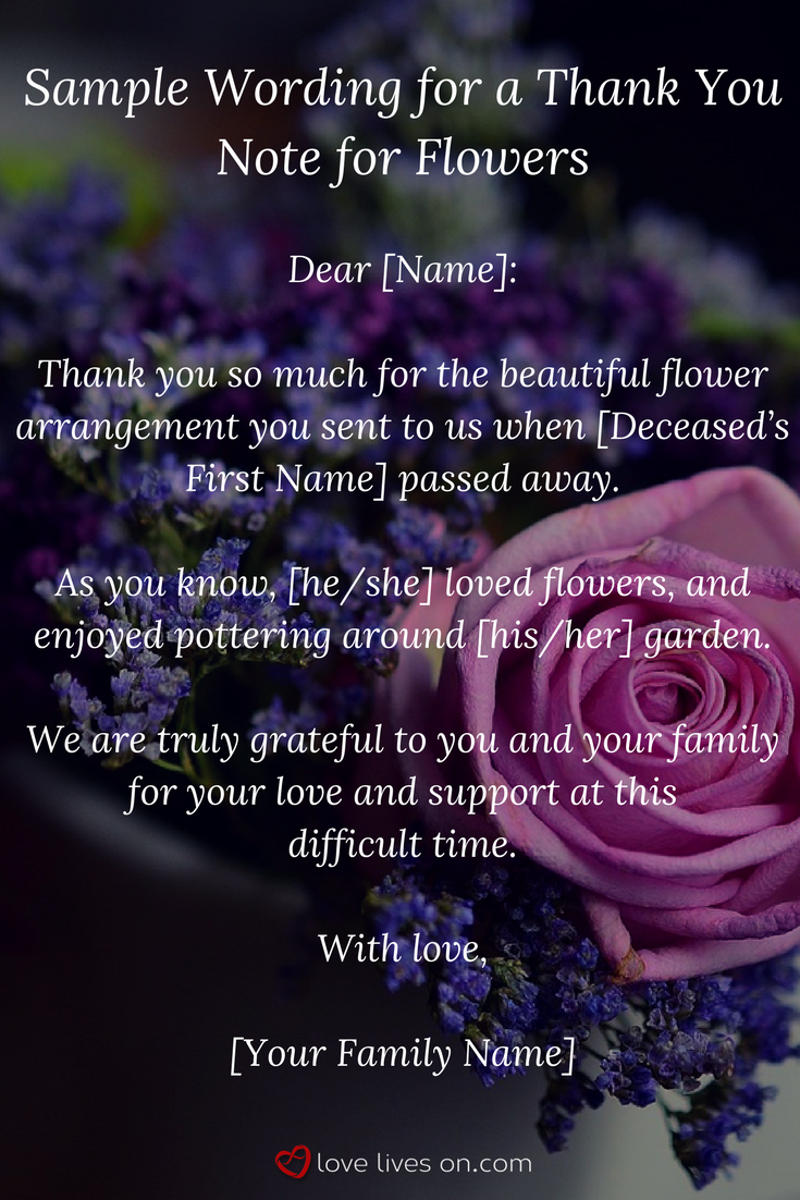 33 best funeral thank you cards lovelywords pinterest its common practice to write a thank you note for sympathy flowers you received from friends or family who wanted to show love and support for you and your izmirmasajfo