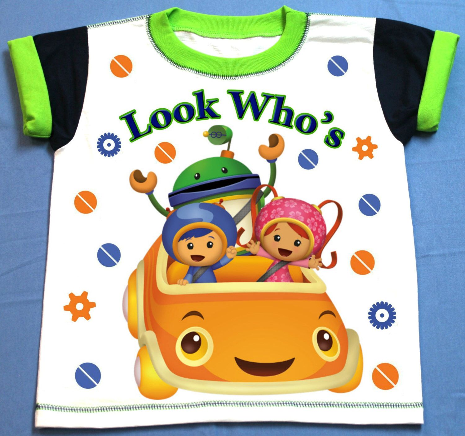 Team Umizoomi T-shirt Personalized 12 Months,18 Months,2t,3t,4t,5t,6t Personalization is included at no additional cost. by FantasyKidsDesigns on Etsy https://www.etsy.com/listing/274824528/team-umizoomi-t-shirt-personalized-12
