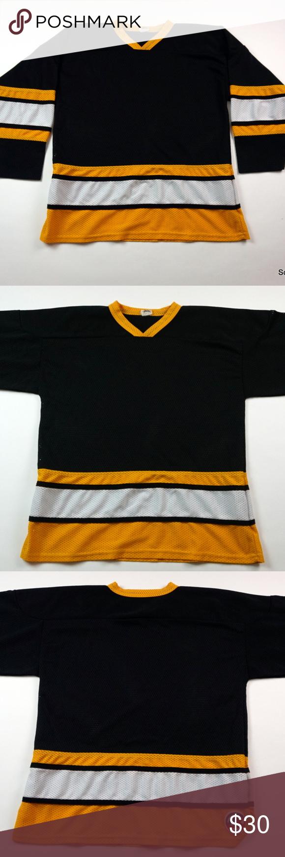842b63f7f VTG Mens Boston Bruins Blank Hockey Jersey Large VTG Mens Boston Bruins  Blank Athletic Knit NHL