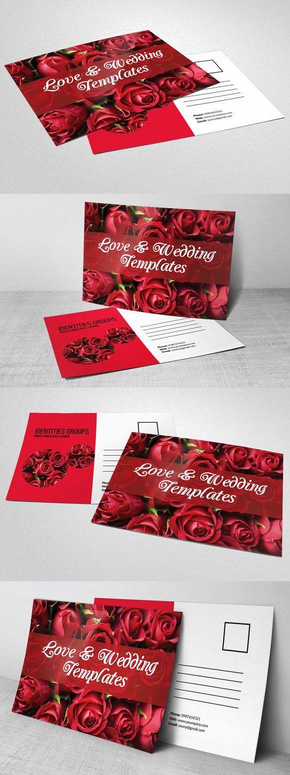 Elegant Wedding Invitation Postcard . Wedding Card Templates ...