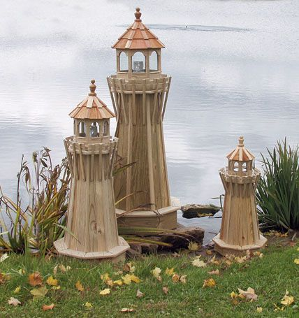 Wooden lawn furniture lighthouses yutzy 39 s farm market for Lighthouse home plans