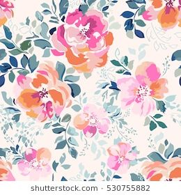 soft pink watercolor flower print seamless background cards