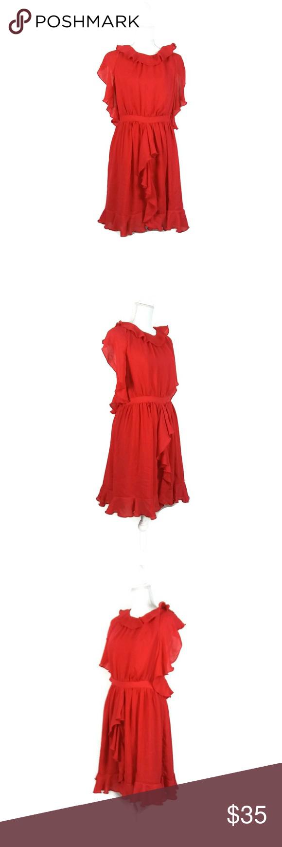 Prabal Gurung For Target Ruffle Red Cocktail Dress Red Cocktail Dress Target Dresses Clothes Design [ 1740 x 580 Pixel ]
