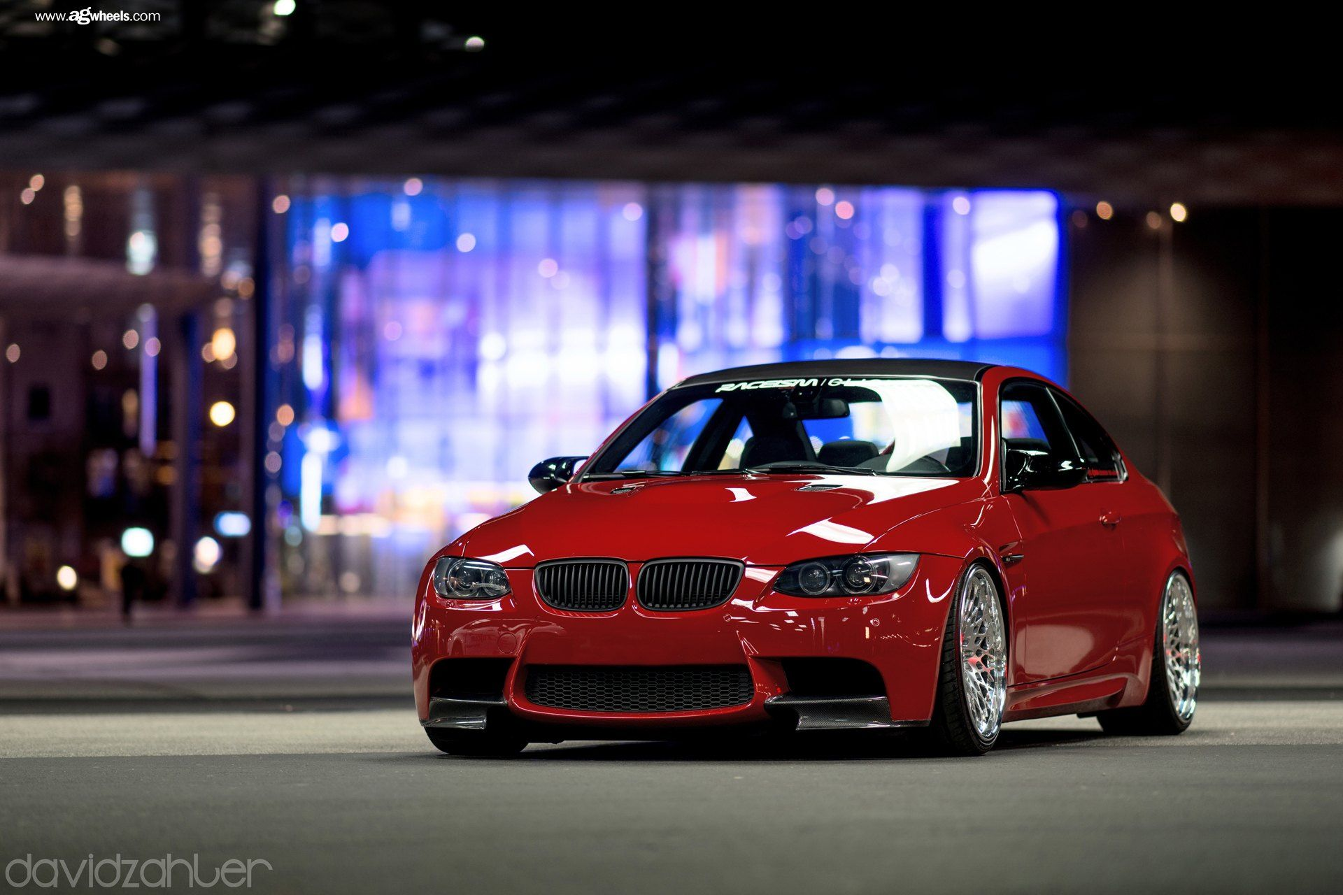 Candy Red Bmw 3 Series On Full Face Custom Wheels Bmw Custom