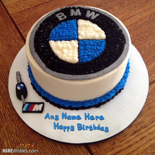 Birthday Cake With Name For BMW Lovers