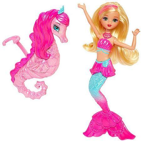 Barbie Pearl Princess Mermaid Doll And Dolphin Pet Muñecas Sirenas Pájaros De Ganchillo Juguetes Para Niñas