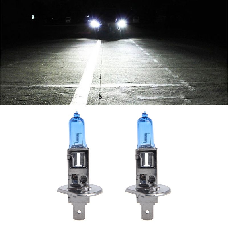 2pcs Car Headlight H1 H3 H7 Lamp Super White Car Auto Head Light Halogen Bulbs 100w Headlight Bulbs White Car Car Headlights
