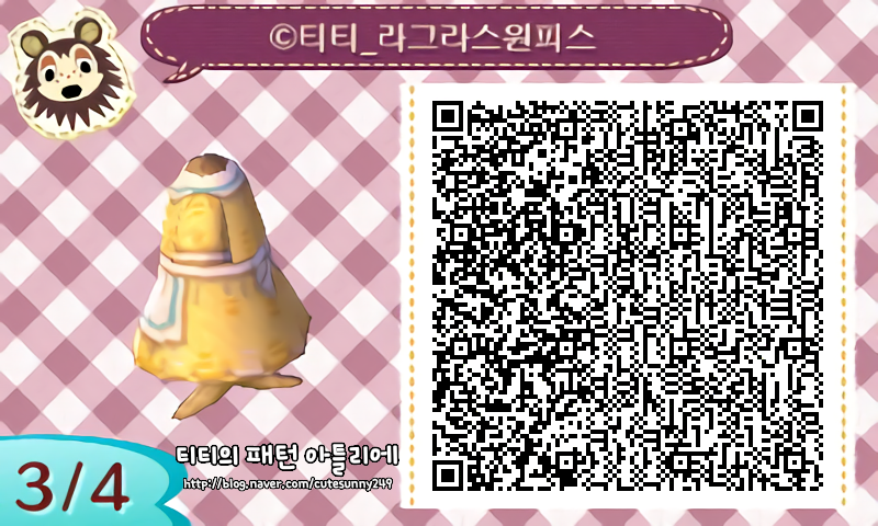 [튀동숲 옷패턴][Animal Crossing New Leaf] Pattern Atelier 057