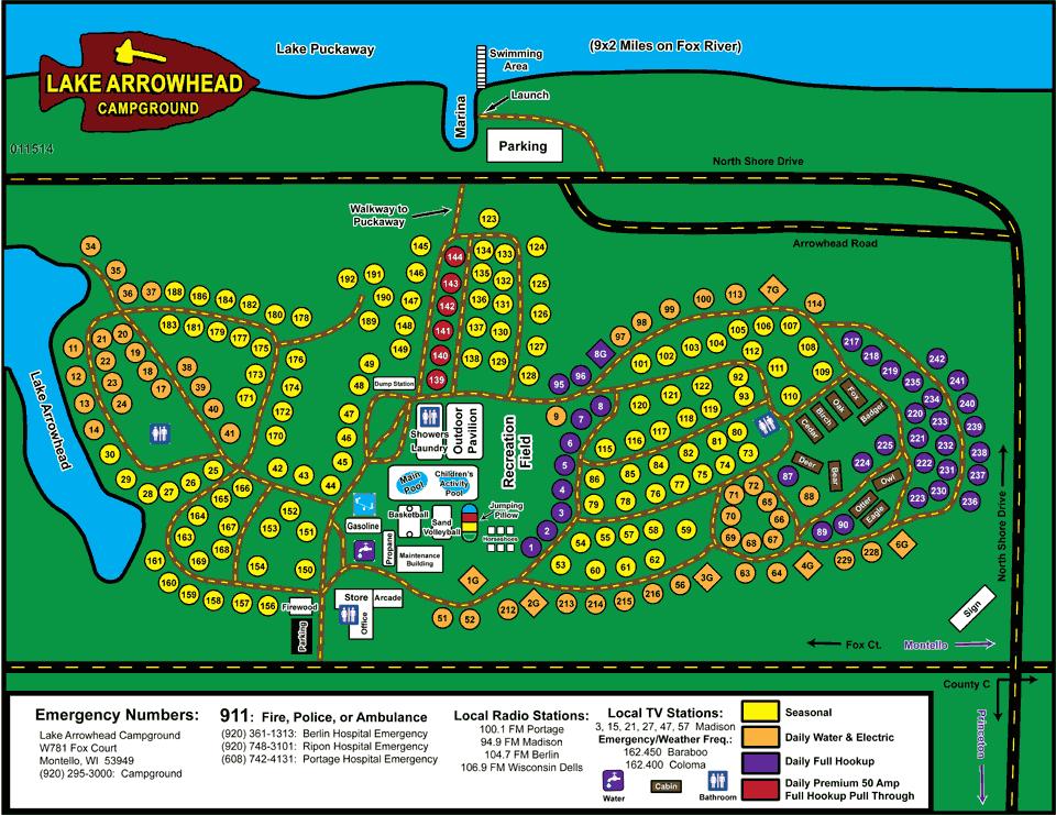 map of lake arrowhead Map Of Lake Arrowhead Campground Montello Wi Wisconsin map of lake arrowhead