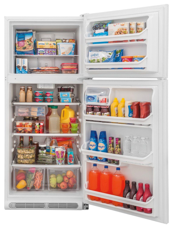 Frigidaire 20.4 Cu. Ft. Top-Freezer Refrigerator - FFTR2021TW | Réfrigérateur organisé ...