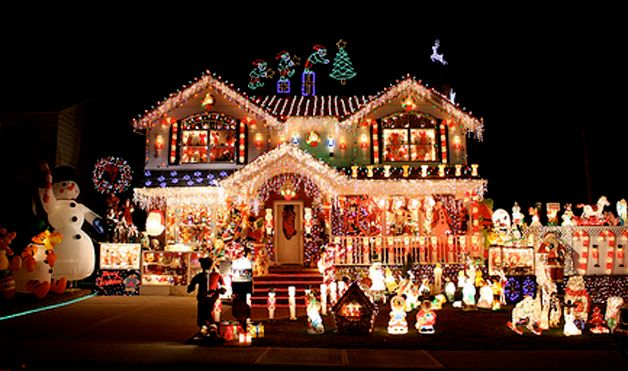 Top 46 Outdoor Christmas Lighting Ideas Illuminate The Holiday Spirit | ... Christmas  lights. Photo courtesy of Adriana Lopetrone via Flickr.com - 7 Of The World's Most Decked-Out Christmas Houses Holiday Lights