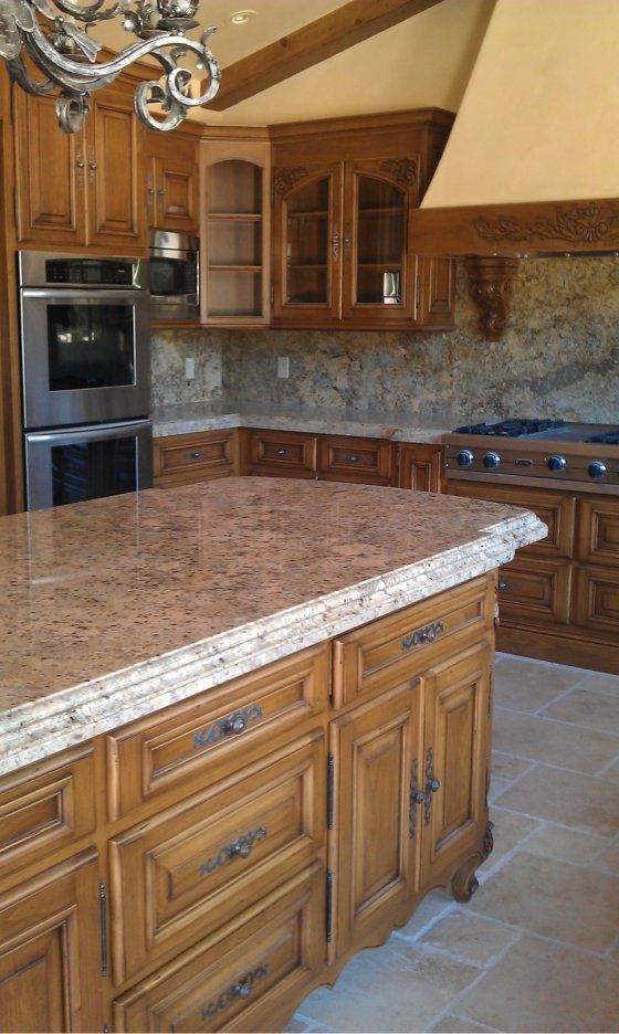 Custom Shaped Granite Countertop Fabrication With Bull Nose Edge By Glass Mosaic Tile Marble Inc For More Info Countertops Glass Mosaic Tiles Mosaic Glass