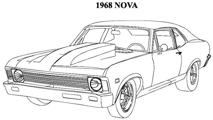 Classic Muscle Car Coloring Pages  Coloring Pages  Pinterest