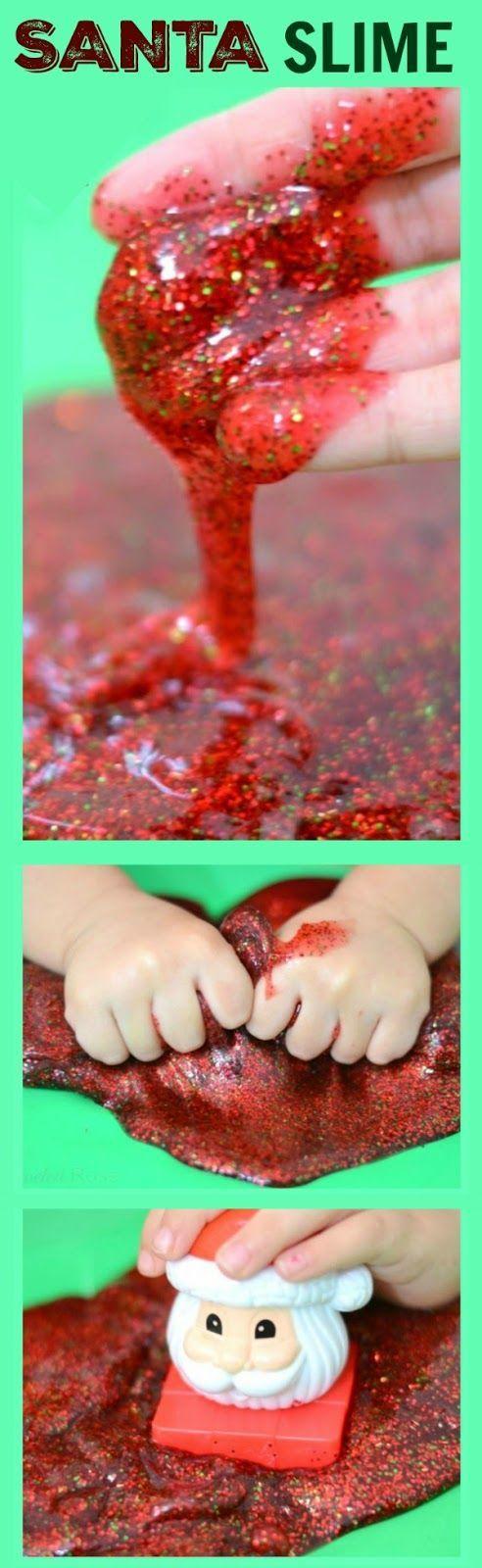 SANTA SLIME- so fun for kids & smells just like Christmas! | Toddler ...